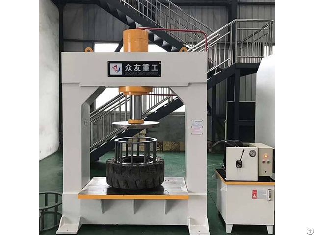 Forklift Tire Press Machine For Disassembling Solid Tires