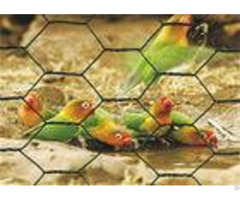 Galvanized Hexagonal Chicken Wire Mesh Pvc Coated 1 2 Hole Size