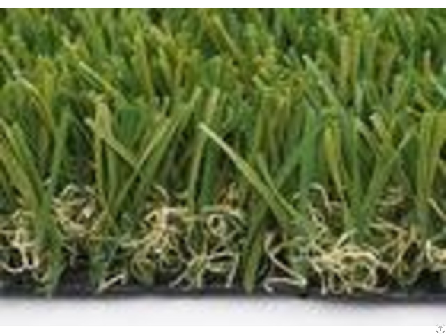 Customized W Shape Artificial Grass Garden 40mm 14700 Density Synthetic