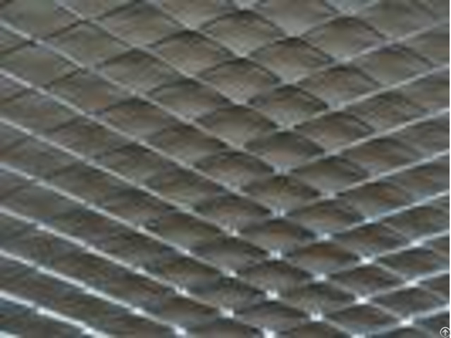 Aluminium Material Expanded Metal Mesh With Powder Coating For Decoration