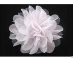 White Alternative Chiffon Mesh Fabric Flower Corsage Accessories For Bridal Wedding