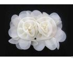 Apricot 120d Chiffon Handmade Artificial Fabric Flower Corsage For Hair Accessories