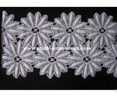 Cotton Chemical Floral Lace Trim Fabric Chrysanthemum Shape For Wedding Accessories