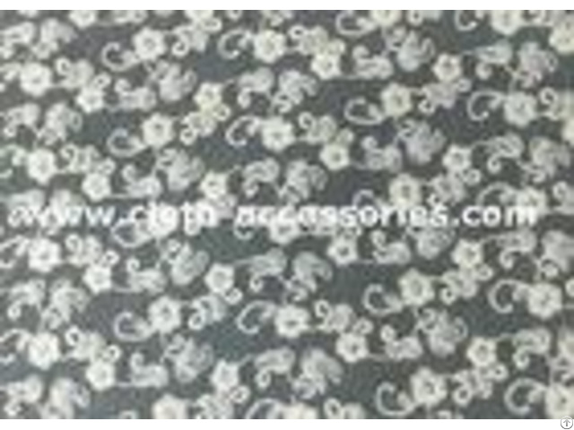 Floral Knitted White Net Lace Fabric Trimmings With Sun Flower Pattern