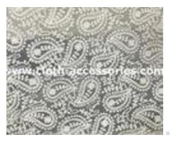 Wedding Guipure Net Lace Fabric Trim 7 5 Yard With Cashew Printed
