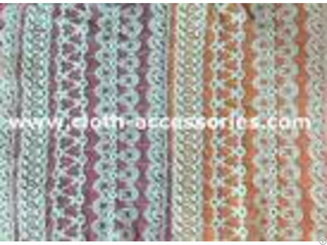 Customized 100 Cotton Mesh Net Lace Fabric Eco Friendly Dyeing For Lady Dress