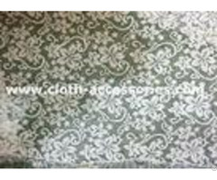 Knitted Embellished Net Lace Fabric Comfortable Beautiful With Polymide Mesh
