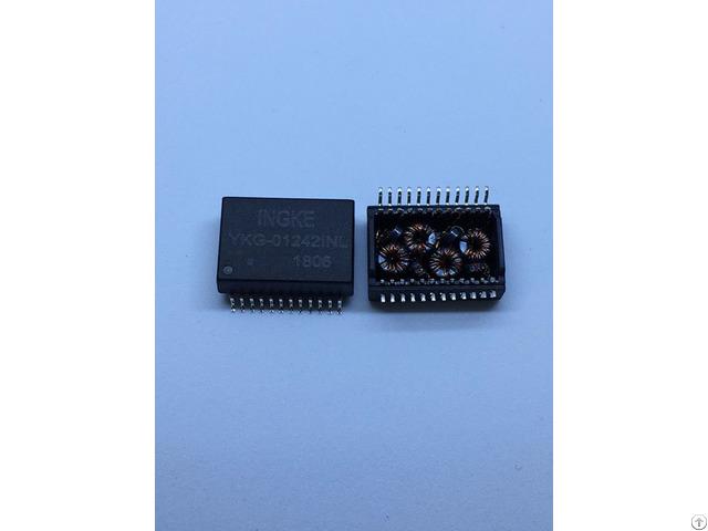 Ingke Ykg 01242inl 100% Cross Mox Lan Trf 1712b Poe Ethernet Transformer Modules
