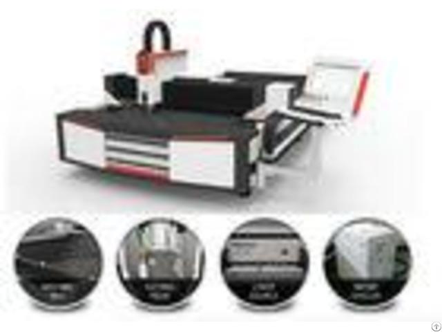 6mm Aluminum Laser Cutting Machine With Servo Motors On Ball Screw Drive