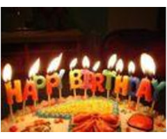 Glitter Letter Birthday Candles For Cake Decoration Food Grade Oem Odm Service