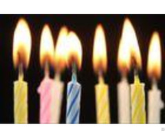 Swirling Pattern Decorative Cake Candles For Anniversary Birthday Wedding Party