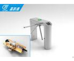 Rfid Access Control Vertical Tripod Turnstile 304 Stainless Steel Channel Width 550 600mm