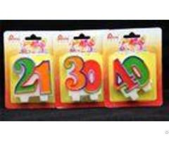 Paraffin Material Double Number Cake Candles Tearless For Party Anniversary