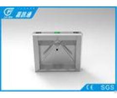 Security Mechanical Vertical Tripod Turnstile High Speed With Fingerprint Reader