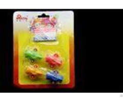 Pretty 3 Colors 6pcs Spiral Birthday Candles With Airplane Shaped Plastic Holder