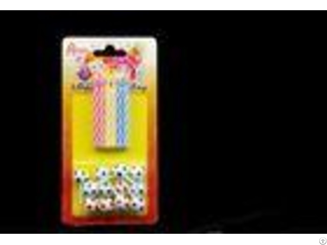 No Fading Strip Spiral Birthday Candles With Football Shaped Plastic Holder