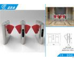 Security Access Control Flap Gate Barrier Turnstile Fast Speed For Libratary Exit