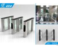 Durable Stable Optical Flap Gate Barrier Turnstile Access Control System Sus 304 Housing