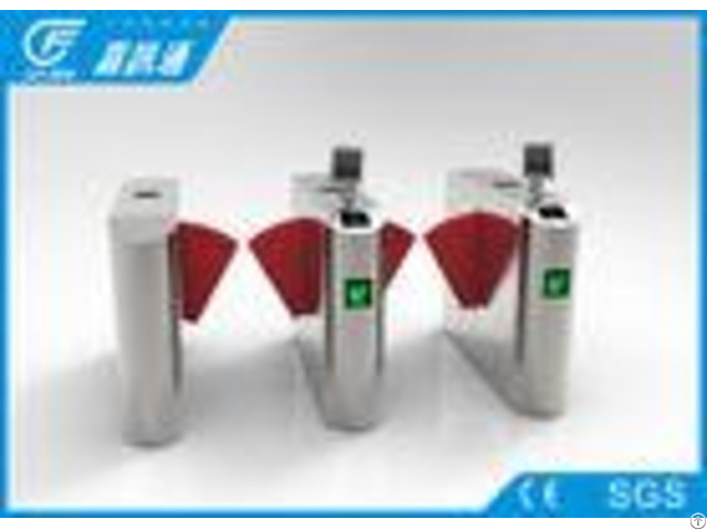 Biometric Flap Barrier System For Entrance Access Control Park Turnstile Entry Systems
