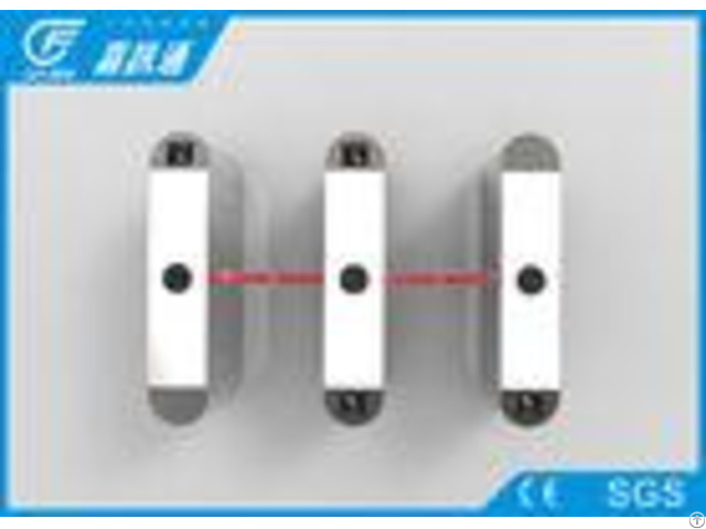 Apartment Half Height Flap Barrier Turnstile Optical Anti Reverse Function