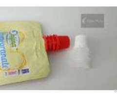 Red Color Inner Diameter 8 6mm Plastic Twist Spout Cap For Jelly Bag