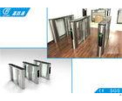 Rfid Card System Flap Gate Barrier 550mm Width Sus304 Housing For Metro Station