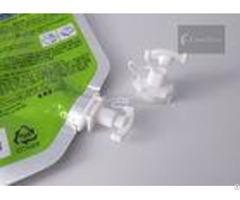 Pearl White Color Twist Spout Cap For Facial Mask Pouch 5mm Inner Diameter