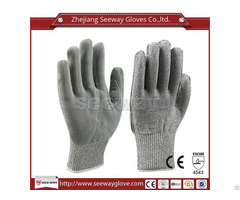 Seeway B513 Hppe Cow Leather Cut Resistant Industrial Safety Work Gloves
