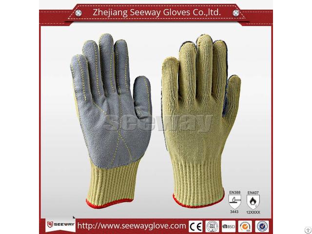 Seeway B506 Aramid Glove With Leather Palm Sewn