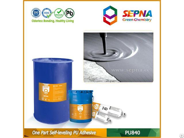 Single Component Polyurethane Self Leveling Adhesive Pu840