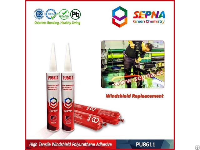 High Strength Polyurethane Auto Glass Adhesive Sealant Pu8611