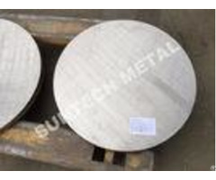 Sb265 Gr 1 Titanium Carbon Steel Clad Tubesheet For Condensers