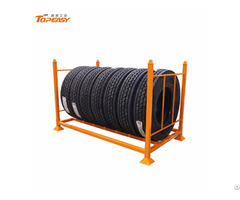 Heavy Duty Foldable Mobile Truck Tire Storage Rack