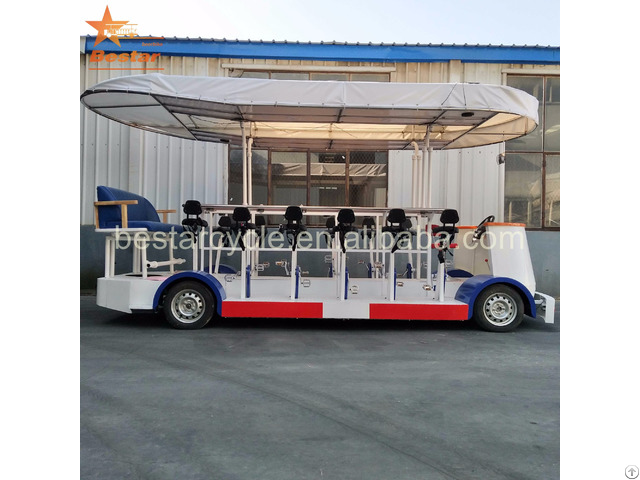 Electric Leisure Sightseeing Special City Bus Beer Bike Party Manufacturer