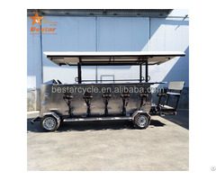 Factory Entertainment Four Wheel Party Quadricycle Electric Beer Bike For Sale