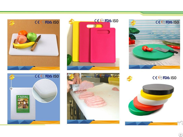 Kitchen Appliance Safe Easy Cleanling Plastic Chopping Board