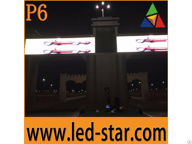 Outdoor P6 Full Color Led Display Screen Large Video Wall