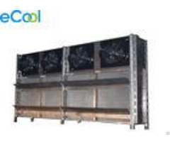 Energy Saving Air Cooled Cold Room Evaporator For Industrial Brine Unit With Copper Tube Al Fins