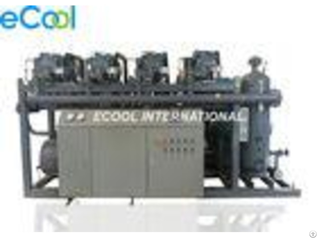 Automatic Four Bitzer Refrigeration Screw Compressor Unit For Large Cold Storage
