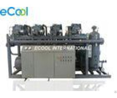 Automatic Four Bitzer Refrigeration Screw Compressor Unit For Large Cold Storage