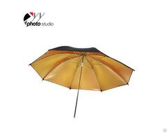 Studio Gold And Black Reflective Photo Umbrella