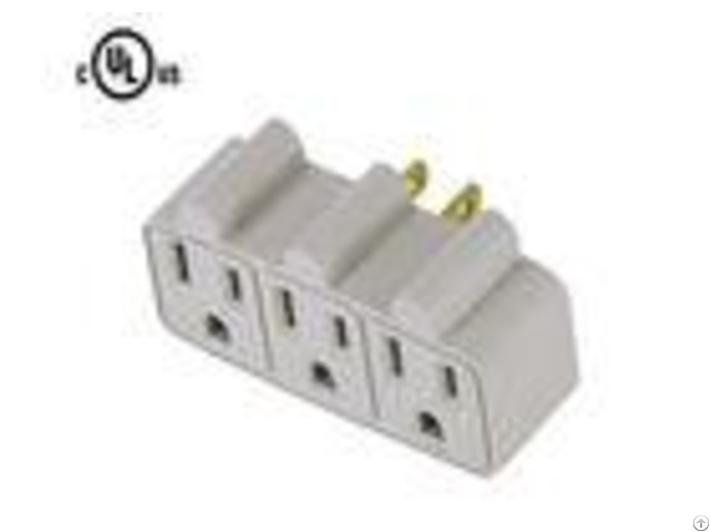 Ul Listed Ac Power Plug Adapter Witth 3 Outlet Surge Protector Wall Tap 15a 125v 60hz
