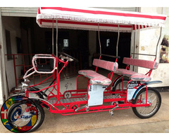 High Quality Four Wheel Sightseeing 4 Person And Baby Seat Surrey Bike For Sale