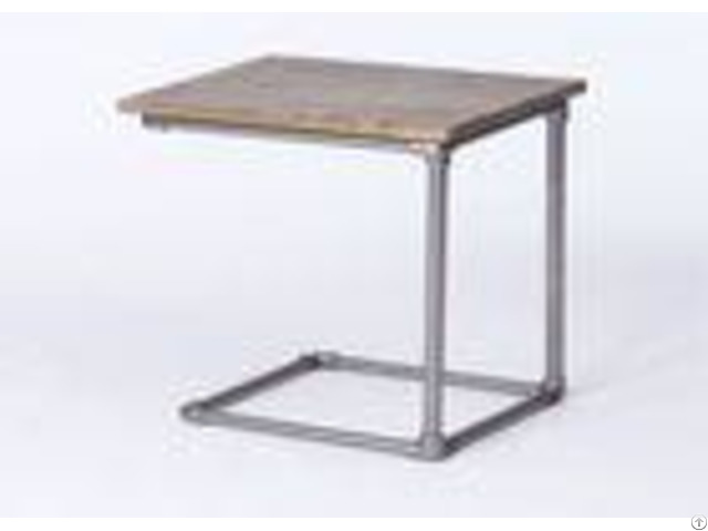 Bedroom Metal Hotel Coffee Table Wooden Top High Standard Simple Style Customized