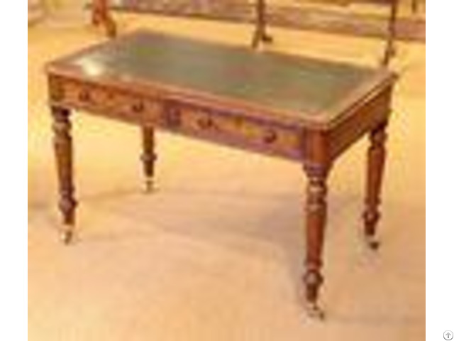 Antique Style Hotel Writing Desk Oak Wooden With Drawers Environment Friendly