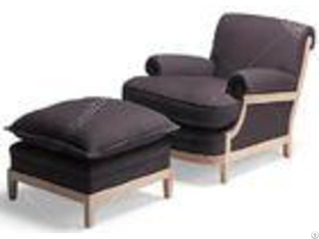 Classical Style Bedroom Hotel Lounge Chairs Environment Friendly Customized