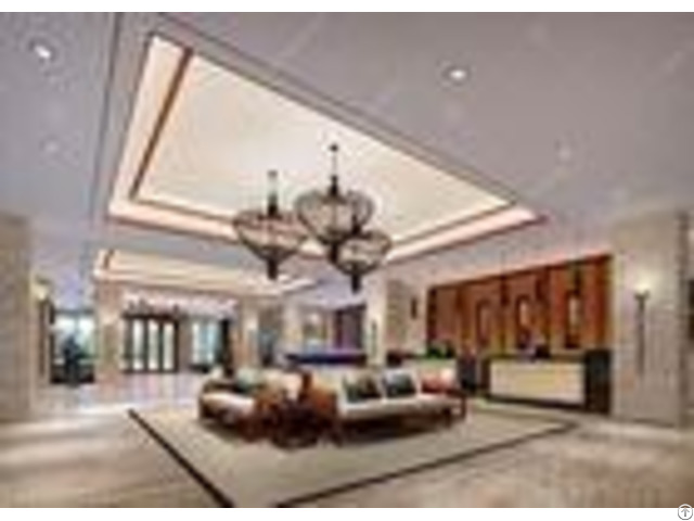 Royal High End Hotel Lobby Furniture With Sofa Set And Console Table Cabinet