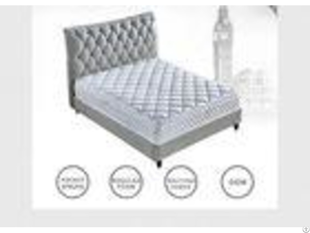 King Queen Size Spring Hotel Bed Mattress Comfortable With Memory Foam High Standard