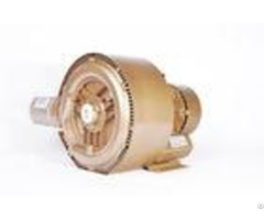Side Channel Aquaculture Air Blower 1 5kw Ring 2 Stage Vacuum Pump Golden Color
