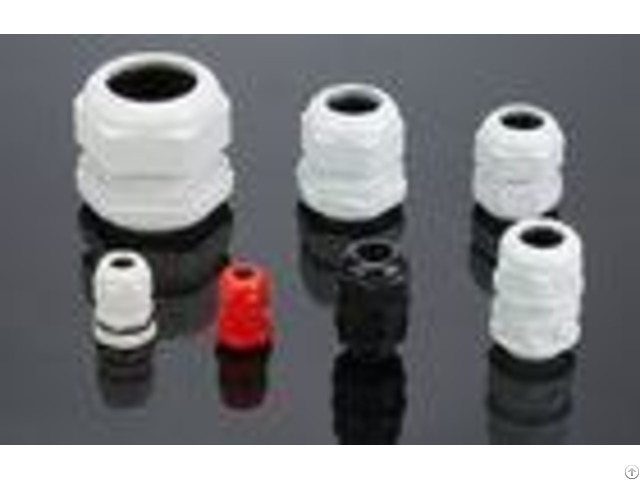 Ex Proof Nylon66 Waterproof Cable Gland White Black Color Pg Type